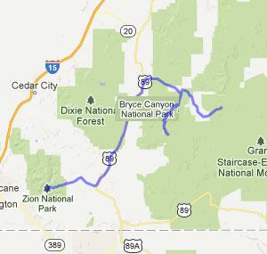 Utah Cycling Tour Map 2